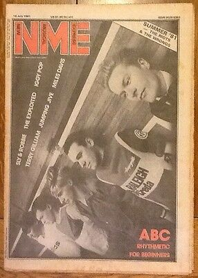 New Musical Express NME 18 July 1981 ABC Exploited Iggy Pop Miles Davis Duran