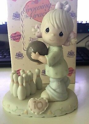 Precious Moments Growing In Grace Age 10 Bowling Blonde 183873 MIB