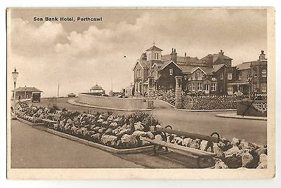 de wales welsh postcard sea bank hotel porthcall