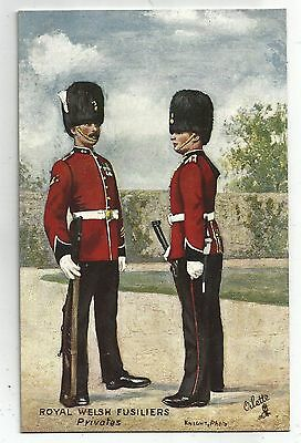 de wales welsh postcard united kingdom royal welsh fusiliers