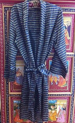 "Ex Large Mens Vintage Silky Dressing Gown  Robe Mid Century 42""knee Length"