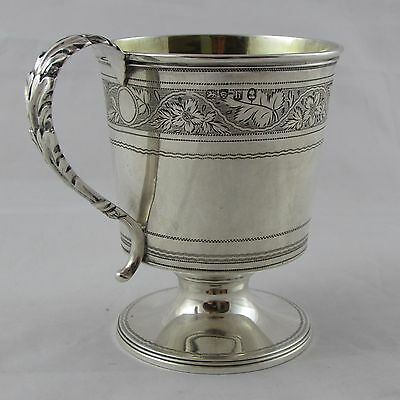 Antique Georgian George Iv Silver Christening Cup Mug London 1823 Lovely Quality