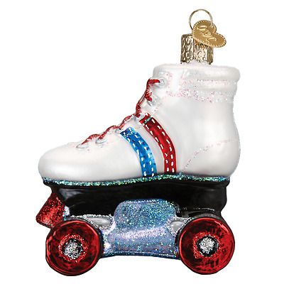 """""""Roller Skate"""" (44097) Old World Christmas Glass Ornament w/OWC Box"""