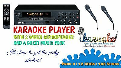 Mp600 Karaoke Party Pack, Mics, 183 Songs! Exclusive Offer! Aust 2 Yr Warranty
