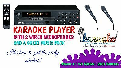 Mp600 Karaoke Party Pack, Mics, 203 Songs! Exclusive Offer! Aust 2 Yr Warranty