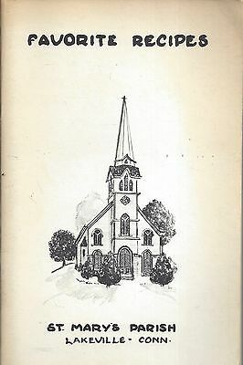 Lakeville Ct 1972 St Mary's Catholic Church Cook Book Connecticut Favorites Rare