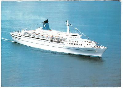 Panama Postcard SS Galileo Chandris Fantasy Cruise Ship Boat Yacht