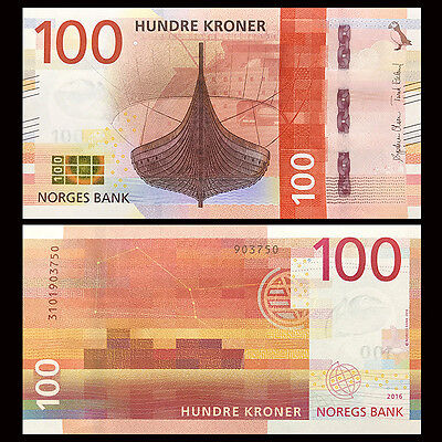 Norway 100 Kroner, 2016(2017), P-NEW, UNC