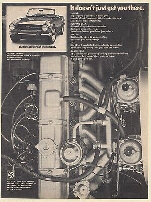 1974 Triumph TR6 Engine It Doesn't Just Get You There Print Ad