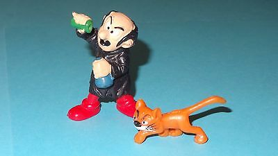 Smurfs Gargamel & Azrael Super Smurf Villains Rare Vintage Display Figurines