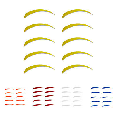 10 Pcs 5'' Drop Left-wing Feathers Arrow Fletching Vane for Archery Hunting