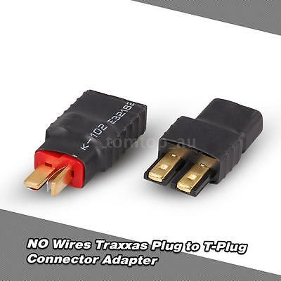 NO Wires Traxxas Plug Female to T-Plug Male(Deans) Connector Adapter T9P0