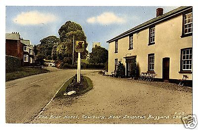 HRC Early Postcard, The Boot Hotel, Soulbury Leighton Buzzard, Bedfordshire 1963