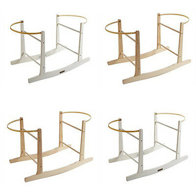 Clair de Lune Wooden Rocking Moses Basket Stand