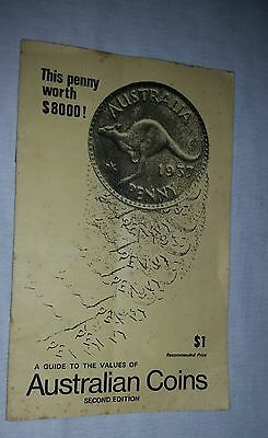 1979 Guide to the Value of Australian Coins S.M. Martin 17 pages