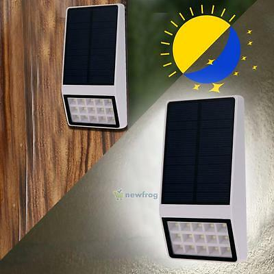 15-LED Solar Powered Stairs Fence Garden Security Lamp Outdoor Waterproof Light