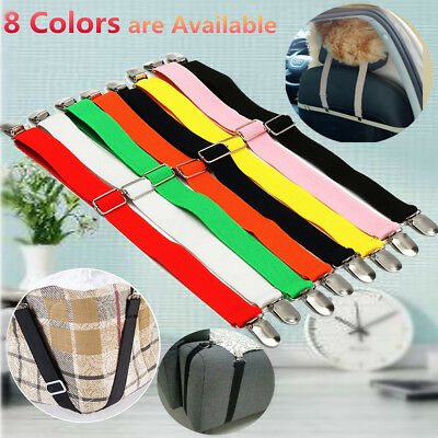 Bed Fastener Sheet Mattress Gripper Cover Blanket Clip Strap Holder Elastic 50cm