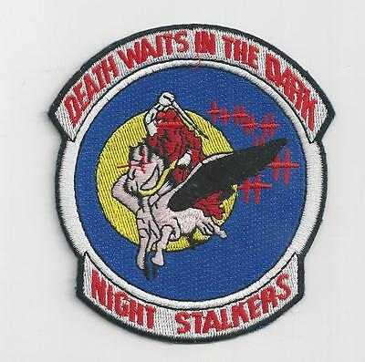 Us Army Aviation Patch - 160Th Aviaiton - Night Stalkers Death Waits In The Dark