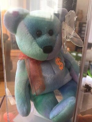TY Beanie Baby Billionaire Bear No 5 Very Low Number 30 of 769 MQ