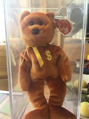 TY Beanie Baby Billionaire Bear No 4 Very Low Number 52 of 762 MQ