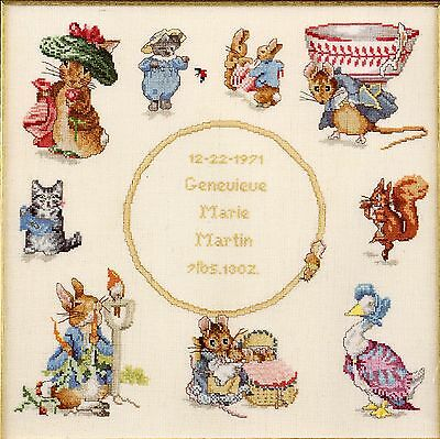 Beatrix Potter Story Book Sampler Cross Stitch Chart Booklet  Green Apple