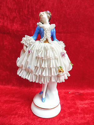 Beautiful, Antique Porcelain Figurine___FEMALE DANCER__Thuringia __19cm