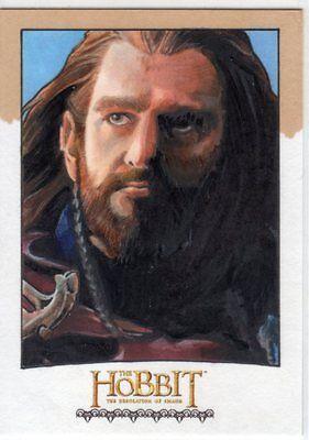 The Hobbit Desolation Of Smaug Sketch Card Of Richard Armitage By Mike James 1/1