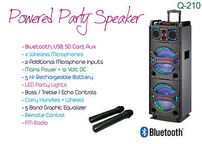Powered / Active Speaker / Led Lights / Battery / Wireless Mics / Bluetooth