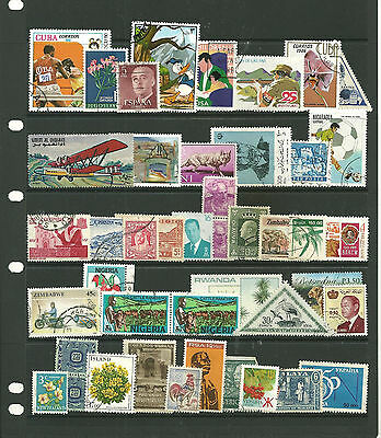 World  7 stacked   stock sheets collection stamps  for the collector