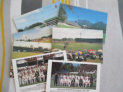 South African cricket postcards 1998 by Stamp Publicity X7