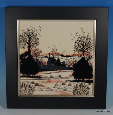 MOORCROFT Christmas In The Cotswolds Framed Wall Plaque Issued During 2015