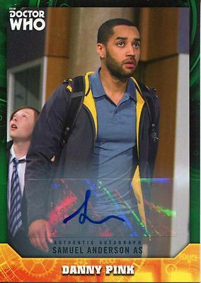 Doctor Who Signature Series Green [50] Autograph Card Samuel Anderson As D Pink