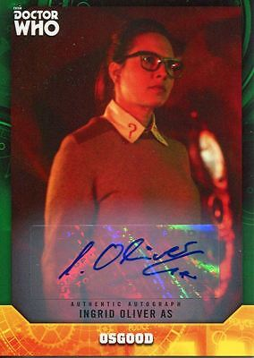Doctor Who Signature Series Green [50] Autograph Card Ingrid Oliver As Osgood