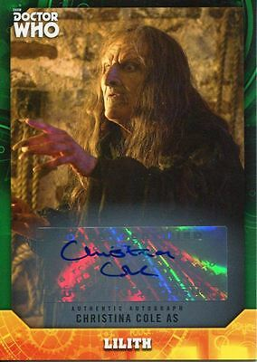 Doctor Who Signature Series Green [50] Autograph Card Christina Cole As Lilith