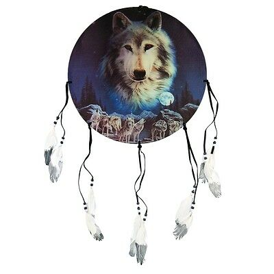 Wolf Pack in Snow Dream Catcher