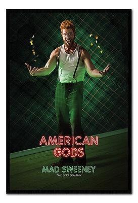 Framed American Gods Mad Sweeney Official Poster