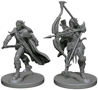 Elf Male Fighter - Dungeons & Dragons Pathfinder Primed Unpainted 25Mm Minis
