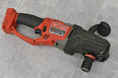 """Used Milwaukee 2708-20 HOLE HAWG 1/2"""" Cordless Right Angle Drill Tool, Quik-Lok"""