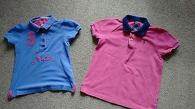 2 X Joules Cotton Polo Shirts . 1 Girls 1 Boys Excellent Condition