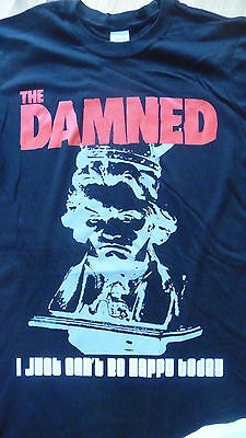 THE DAMNED - I Just can't be happy today T-Shirt Size Large.New.Punk,Rock,Goth