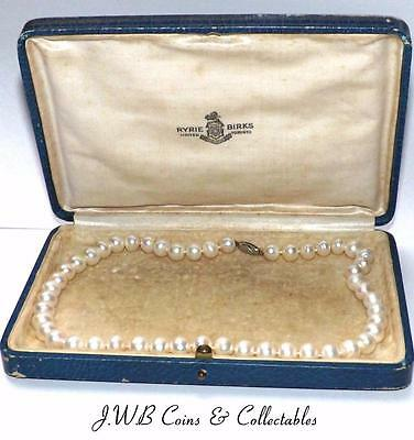 Vintage Cultured Pearl Necklace With Sterling Silver Clasp