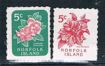 Norfolk Is 1995 Flowers Booklet stamps SG 600/1 MNH