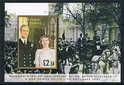 British Indian Ocean Territory 2007 Diamond Wedding MS SG 361 MNH