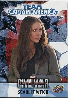 Captain America Civil War Team Captain America Chase Card CAB6 Scarlet Witch