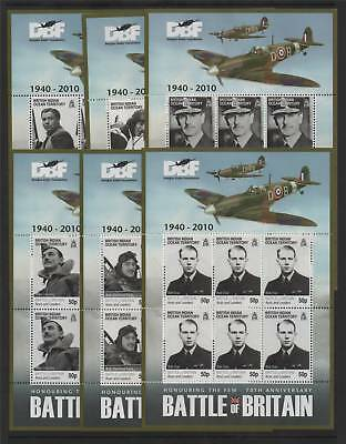British Indian Ocean Territory 2010 Battle of Britain SHEETS SG 431/6 MNH