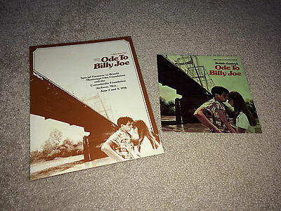 ODE TO BILLY JOE Movie Premiere Press Kit 1976 45 Promo Record Picture Sleeve