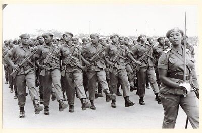1974 Tanzanian Army Well Armed Women Soldiers Original Press Photo