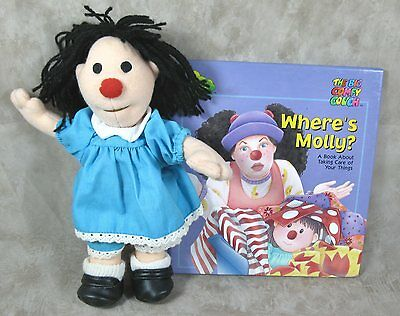 "The Big Comfy Couch 9"" Plush Soft Molly Doll And Where's Molly? HC Book"