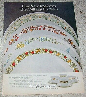 1981 print ad page -Corelle Traditions dinnerware Corning Glass Works vintage AD