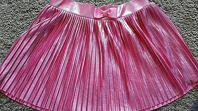 Girls H&M Pink Shiny Skirt Age 5-6 approx